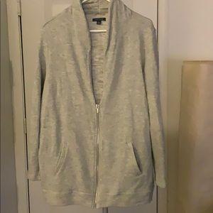 Grey zip up sweat jacket